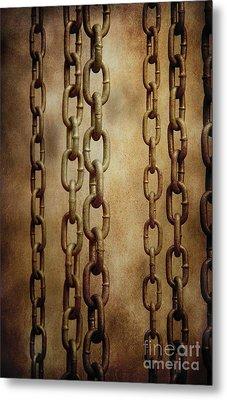 Hanged Chains Metal Print by Carlos Caetano