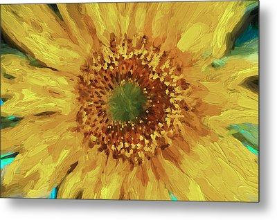 Hannahs Sunflower  Metal Print by Rich Franco
