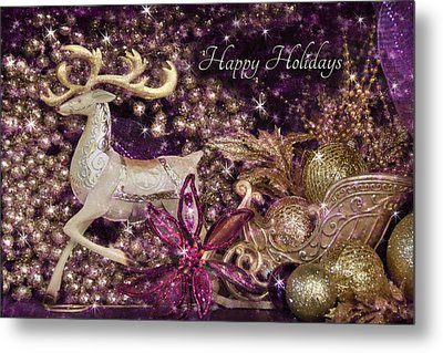 Happy Holidays Metal Print by Lori Deiter