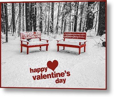 Happy Valentines Day Metal Print