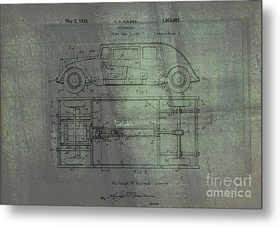 Harleigh Holmes Automobile Patent From 1932 Metal Print