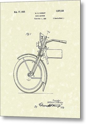 Harley Absorber 1925 Patent Art Metal Print by Prior Art Design