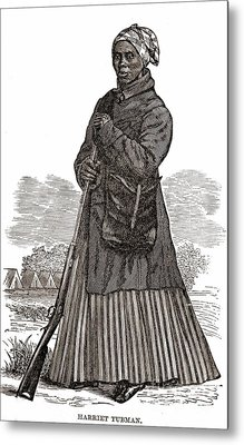 Harriet Tubman, American Abolitionist Metal Print by Photo Researchers