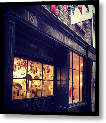 Hat Shop Jubilee Style Metal Print by Maeve O Connell
