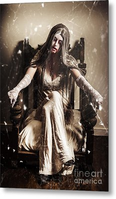 Haunting Horror Scene With A Strange Vampire Girl  Metal Print by Jorgo Photography - Wall Art Gallery