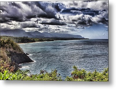 Hawaii Big Island Coastline V2 Metal Print by Douglas Barnard