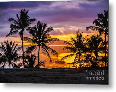 Hawaiian Sunset Metal Print by Juli Scalzi