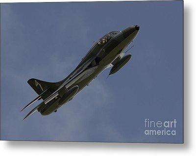 Hawker Hunter Metal Print by J Biggadike