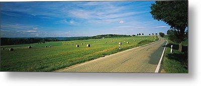 Hay Bales In A Field, Germany Metal Print