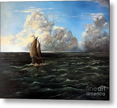 Heading For Shore Metal Print by Lee Piper