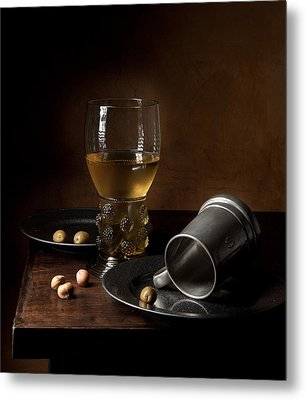 Metal Print featuring the photograph Heda - Still Life With Large Roemer And Goblet by Levin Rodriguez