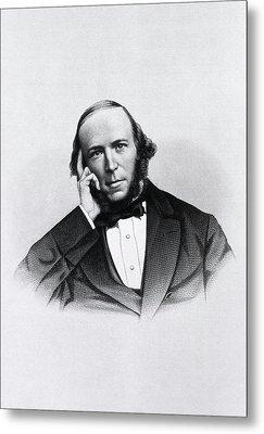 Herbert Spencer Metal Print by National Library Of Medicine