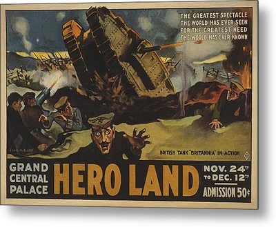 Hero Land Poster Metal Print by Underwood Archives