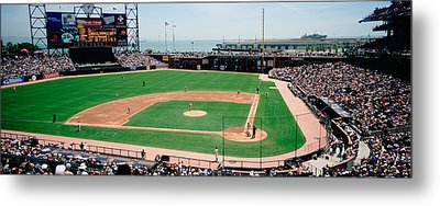 High Angle View Of A Stadium, Pac Bell Metal Print
