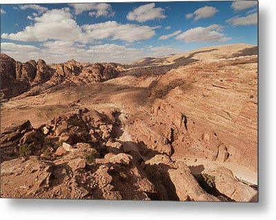 High Angle View Of Petra Valley Metal Print