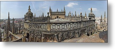 High Angle View Of The Seville Metal Print by Panoramic Images