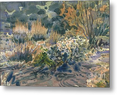 Metal Print featuring the painting High Desert Flora by Donald Maier