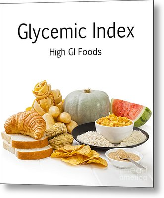 High Glycaemic Index Foods Metal Print by Colin and Linda McKie