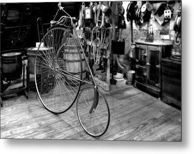 High Wheel 'penny-farthing' Bike Metal Print by Christine Till