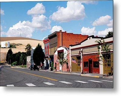 Historic Buildings Along Main Street Metal Print by Nik Wheeler