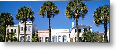 Historic Houses In Rainbow Row Metal Print