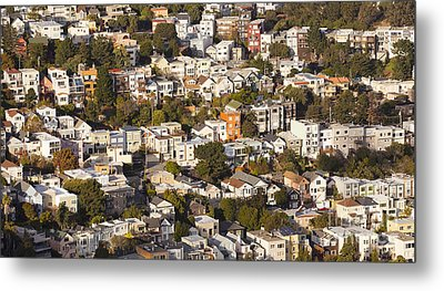 Homes Of San Francisco Metal Print by B Christopher