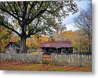 Homestead On The Buffalo Metal Print by Marty Koch