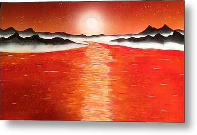 Metal Print featuring the painting Horizon by Michael Rucker