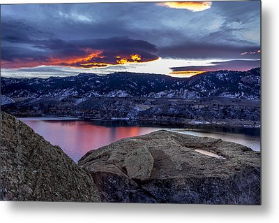 Horsetooth At Sunset Metal Print by Bob Younger