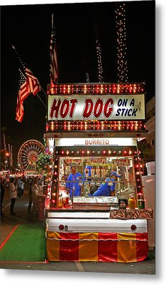 Hot Dog On A Stick Metal Print by Peter Tellone
