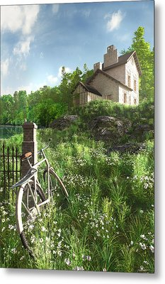 House On The Hill Metal Print by Cynthia Decker