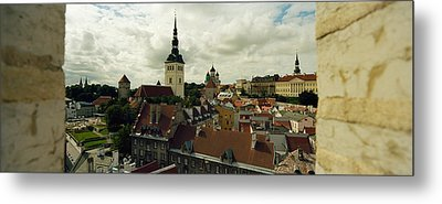 Houses In A Town, Tallinn, Estonia Metal Print by Panoramic Images