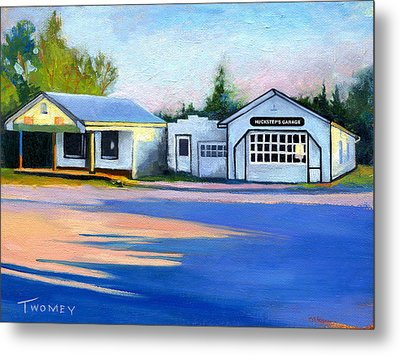 Huckstep's Garage Free Union Virginia Metal Print by Catherine Twomey