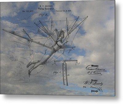 Human Flight  Metal Print