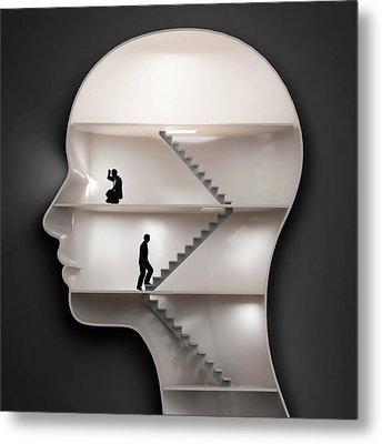 Human Mind Metal Print by Andrzej Wojcicki