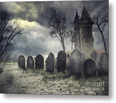 Hunted House Metal Print