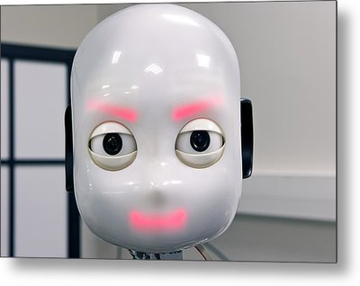 Icub Robot Metal Print by Philippe Psaila