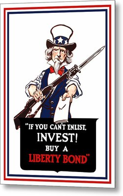 If You Cant Enlist Invest Metal Print by War Is Hell Store