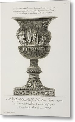 Illustration Of Classical Urn Metal Print by British Library
