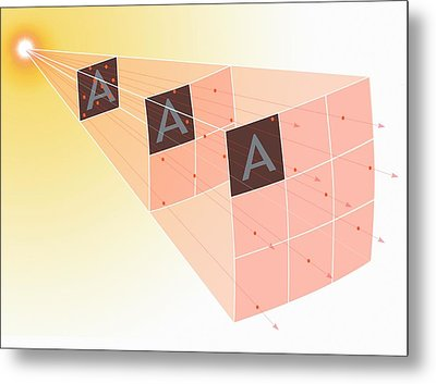 Illustration Of The Inverse Square Law Metal Print by Mark Garlick