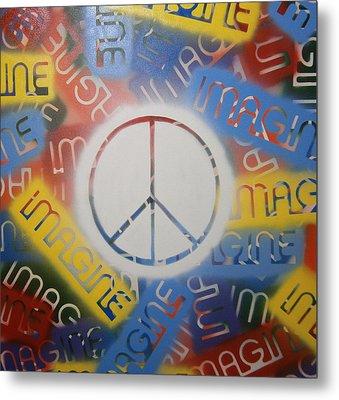 Imagine Peace Metal Print by Drew Shourd