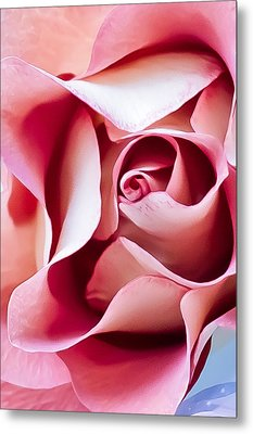 In Depths Of A Rose Metal Print by Elvira Pinkhas