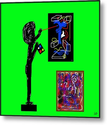 In His Elements Metal Print by Sir Josef - Social Critic - ART