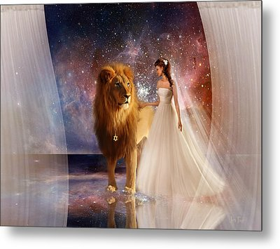 In His Presence Metal Print by Jennifer Page