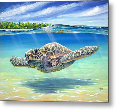 In The Shallows Metal Print by Patrick Parker