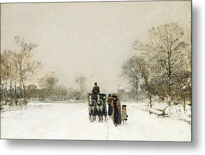 In The Snow Metal Print