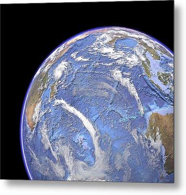 Indian Ocean, Sea Floor Topography Metal Print by Science Photo Library