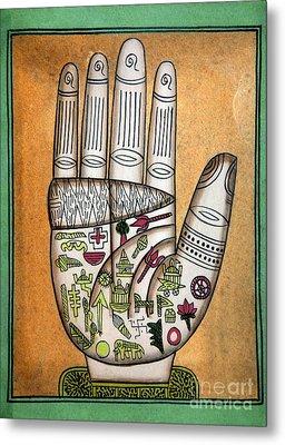 Indian Palmistry Map Metal Print