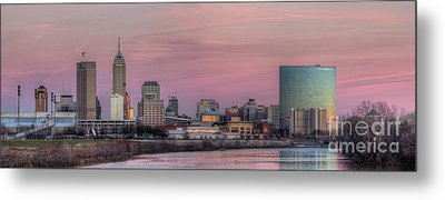 Indianapolis Skyline Metal Print by Twenty Two North Photography