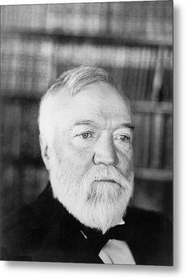 Industrialist Andrew Carnegie Metal Print by Underwood Archives